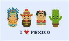 Mexico icons Mini people around the world PDF por cloudsfactory