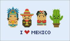 Mexico icons Mini people around the world PDF por cloudsfactory