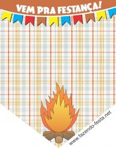 convites festa junina para imprimir Bunting Flags, Box Branding, Free Printables, Party, Hiit, Gabriel, Kids Part, Bows, Garlands