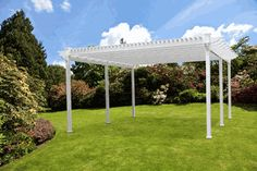 The Single Beam Freestanding Vinyl Pergola looks like it should have a garden party underneath it. Any takers?