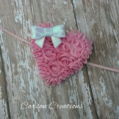 Hey, I found this really awesome Etsy listing at https://www.etsy.com/listing/218293890/valentines-pink-or-white-heart-headband
