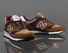 New Balance 577 - Brown / Burgundy - Navy   KicksOnFire.com