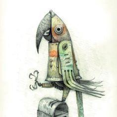 The Good Parrot - Shaun Tan #shauntan #illustration #whimsicalillustration