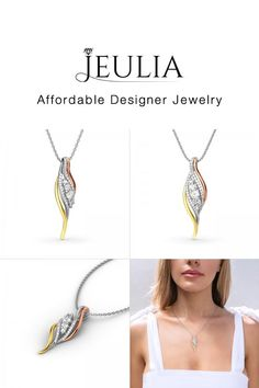 #Jeulia JEULIA Dainty Tri-Tone Necklace. Discover more stunning Amore Collection from Jeulia.com. Shop Now!