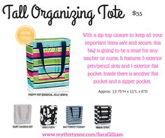 Thirty One's newest Organizing tote!!! Spring 2016