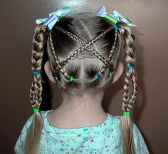 little girl hairstyles   Shaunells Hair: Little Girls Hairstyles -The Criss Cross with Braid ...
