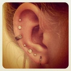 Multiple Ear Piercings Earrings Na Orelha Peircings Cute