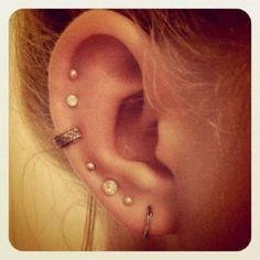 multiple ear piercings earrings