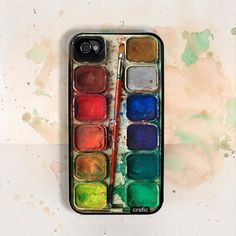 The iPhone Watercolor case for creative geeks ... the artists phone!