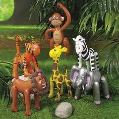 Inflatable Zoo Animals ~ Great for Zoo Party Favors, Backdrops or Centerpieces