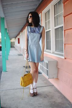 what-do-i-wear:    Stylestalker dress. Loup top. Forever 21 shoes.BesoBesonecklace.Karen Walkershades. (image:thatschic)