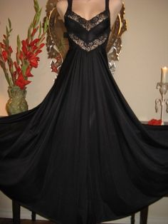 Vintage Nightgown Gown Spandex Magic Lingerie by dixiedallas, $74.99