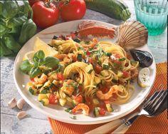 Unser beliebtes Rezept für Spaghetti mit Zucchini und Shrimps und mehr als 55.000 weitere kostenlose Rezepte auf LECKER.de.