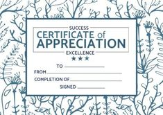 Edit this stunning leaves outline certificate of appreciation Leaves Outlines by clicking on template Leaf Outline, Certificate Of Appreciation, Outlines, Success, Leaves, Templates, Design, Stencils