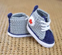 NEW! Exciting addition to Matilda's Meadow Patterns - Easy Crochet Pattern for Baby Sneakers Photo Tutorial Instant download from our Etsy Shop