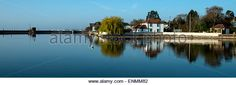 Mill Pond at Emsworth Hampshire - Stock Image