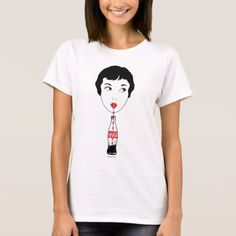 Coca-Cola | Girl Sipping Coke T-Shirt - click/tap to personalize and buy