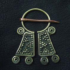 Bronze Mordvinian cloak pin from The Sunken City by DaWanda.com