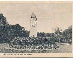Łódź Park Staszica, pomnik, ca1930
