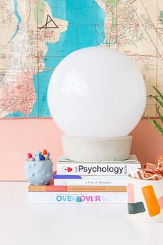 Ikea Hack: How to Create a Concrete Globe Table Lamp For Under $30 - Paper and Stitch