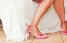 Beispiel: Brautschuhe in Pink, Foto: Elsa Coloured Shoes.