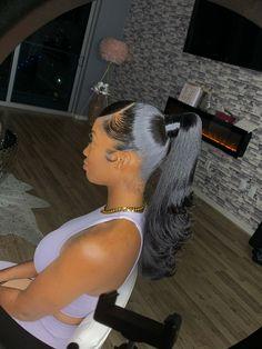 Slick Ponytail, Hair Ponytail Styles, Black Girl Braided Hairstyles, Slick Hairstyles, Weave Hairstyles, Curly Hair Styles, Natural Hair Styles, High Ponytail With Weave, Black Hairstyles For Prom