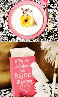 What a fun way to incorporate some @Chalkboard China on your special day.