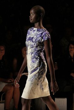 Lela Rose Spring 2013 by @Jess Pearl Pearl Liu Quirk This reminds me of a pretty plate! I love the colors!