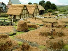 Wargaming with Silver Whistle: Medieval Terrain for War of the Roses game Wargaming Table, Wargaming Terrain, Game Terrain, 40k Terrain, Warhammer Terrain, Medieval Houses, Wars Of The Roses, Model Train Layouts, Tabletop Games