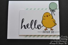 Hello stamp set, Honeycomb Happiness stamp set SAB 2016, Stampin' Up!