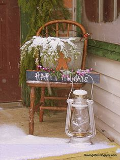 Saving 4 Six: Decorating My Porch for Christmas