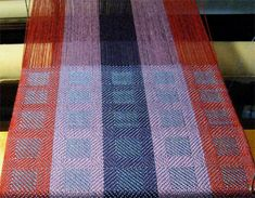 stripes & blocks on loom from the top