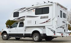 Lance Campers debuts the 2016 Lance a ten-foot, four-inch truck camper with a full-wall slide out and a dry bath. Lance also teases a new model. Truck Camper Shells, Truck Bed Camper, Pickup Camper, Truck Camping, Van Camping, Lance Campers, Rv Campers, Camper Trailers, Travel Trailers