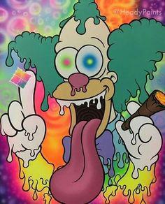 Trippy Cartoon, Dope Cartoon Art, Hippie Painting, Trippy Painting, Small Canvas Art, Diy Canvas Art, Trippy Wallpaper, Cartoon Wallpaper, Trippy Drawings