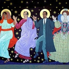 Dancing Saints at St Gregory's Church, San Francisco