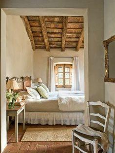 Mediterranean comfortable family farmhouse bedroom