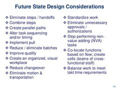 Value Stream Mapping in Office & Service Setttings --> Future State Design Considerations Value Stream Mapping, Kpi Dashboard, Lean Manufacturing, Lean Six Sigma, Green Belt, Business School, Design Thinking, Project Management, Statistics