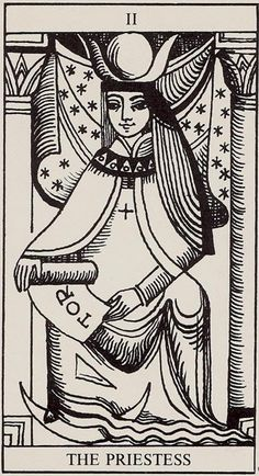 The Priestess, from the Rolla Nordic Tarot. I never miss an opportunity to share cards from this wonderful deck.