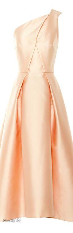 Monique Lhuillier ● SS 2015, Silk Mikado Dress