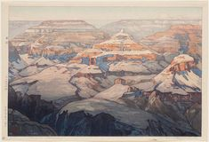 Hiroshi Yoshida : : Grand Canyon : : woodblock print, circa 1925
