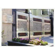 Modern Steel Gate Design, Gate Designs Modern, Window Grill Design Modern, Modern Exterior House Designs, Gate Wall Design, House Main Gates Design, Front Gate Design, Door Design, House Front Gate