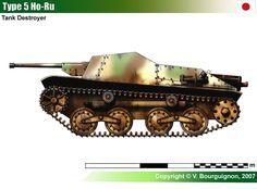 Japanese Type 5 Ho-Ru Self-Propelled Gun Military Art, Military History, Tank Destroyer, Armored Fighting Vehicle, Engin, Tank Design, World Of Tanks, Ww2 Tanks, Panzer