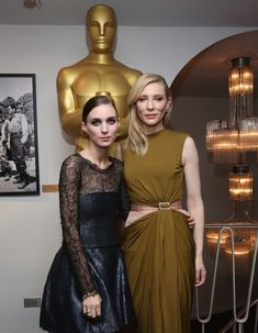 Rooney Mara (L) and Cate Blanchett attends The Academy Of Motion Picture Arts And Sciences Hosts An Official Academy Screening Of CAROL on November 16, 2015 in New York City.