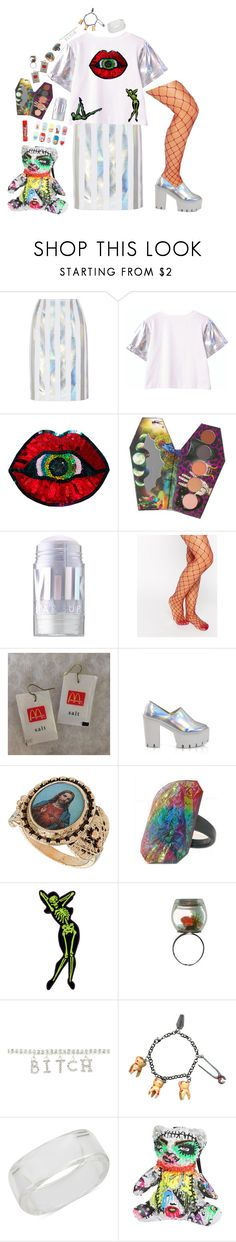 """-"" by m-bot ❤ liked on Polyvore featuring Jonathan Saunders, LunatiCK Cosmetic Labs, MILK MAKEUP, ASOS, INC International Concepts and Patricia Field Art/Fashion"