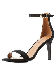 19ed6da5667 Faux suede makes seriously chic ankle strap sandals. Pairing a single toe  strap