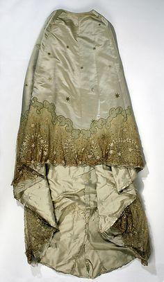 1898–1900 House of Worth evening dress, skirt