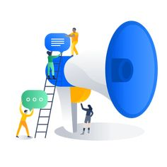 Hipchat | Group chat, video, and screen sharing | Atlassian #illustration #people #color #flat Building Illustration, Funny Illustration, People Illustration, Digital Illustration, Graphic Illustration, Map Illustrations, Web Design, Icon Design, Amazing Drawings