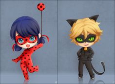 "catnoirism: "" michigopyon: "" spcake: "" I want Ladybug & Chat noir Nendoroid figure! "" I want a Nendoroid figure of them too! Ladybug E Catnoir, Ladybug Und Cat Noir, Ladybug Party, Ladybug Comics, Miraculous Ladybug Wallpaper, Miraculous Ladybug Fan Art, Chibi Kawaii, Kawaii Anime, Lady Bug"