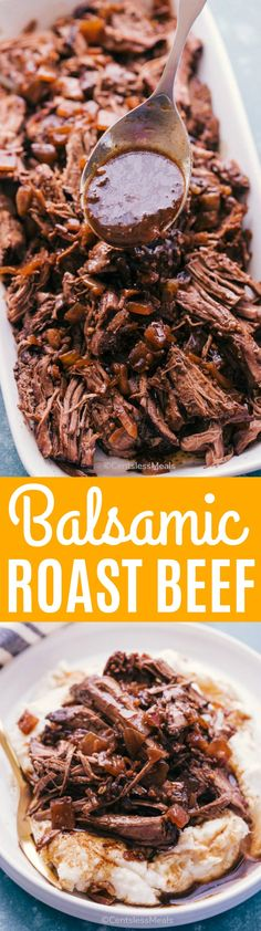 Slow Cooker Balsamic Roast Beef is the perfect meal for any day of the week. It is sensational, capturing the essence of tender and flavorful meat, served hot and quenched in all its juices. #centslessmeals #potroast #slowcooker #crockpot #easyrecipe #beef