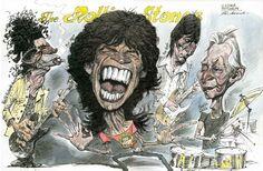 Rolling Stones Caricature by Vladimir Motchalov